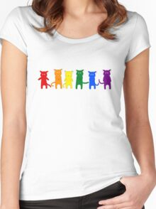 Rainbow Cats Women's Fitted Scoop T-Shirt