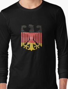 German Eagle Federal Coat of Arms in Germany Flag Water Colors Long Sleeve T-Shirt