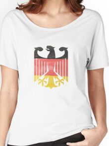 German Eagle Federal Coat of Arms in Germany Flag Water Colors Women's Relaxed Fit T-Shirt