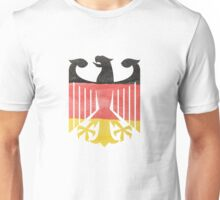 German Eagle Federal Coat of Arms in Germany Flag Water Colors Unisex T-Shirt