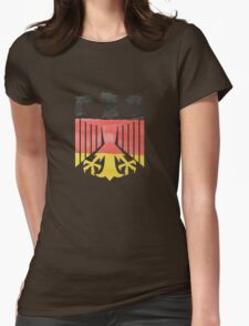 German Eagle Federal Coat of Arms in Germany Flag Water Colors Womens Fitted T-Shirt