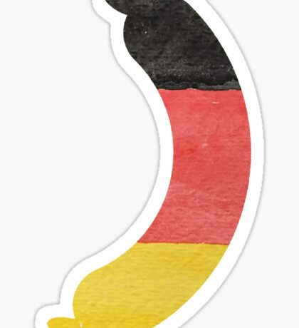 Link Sausage Wurst in Hand-Painted in German Flag Colors Sticker