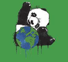 Earth Day Panda One Piece - Short Sleeve