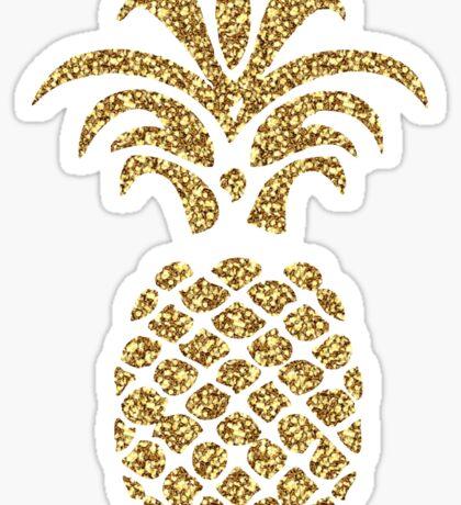 Sparkly Gold Pineapple Sticker