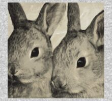 Wetnose Rabbits Sepia One Piece - Long Sleeve