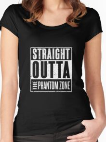 Straight Outta The Phantom Zone Women's Fitted Scoop T-Shirt