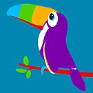 Toucan bird colorful art graphic by Sarah Trett
