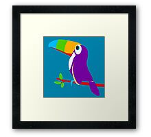 Toucan bird colorful art graphic Framed Print