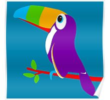 Toucan bird colorful art graphic Poster