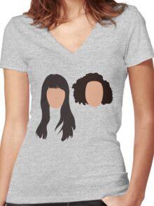 abbi & ilana Women's Fitted V-Neck T-Shirt
