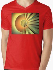 Clementine Rays Mens V-Neck T-Shirt