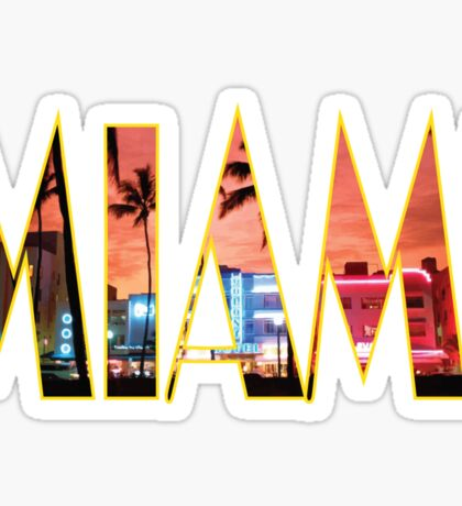 Miami Sticker