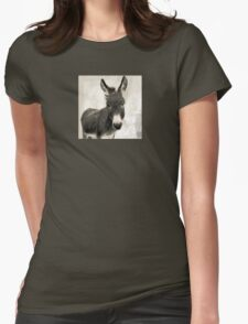 Wetnose Donkey Sepia Womens Fitted T-Shirt