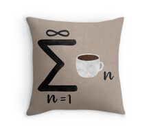 Infinite Coffee Throw Pillow