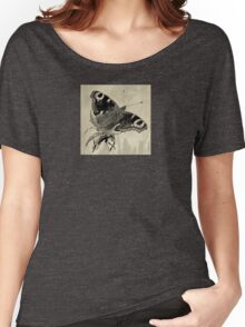 Wetnose Butterfly, Peacock Sepia Women's Relaxed Fit T-Shirt