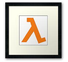 Half-Life - Lambda Symbol Framed Print