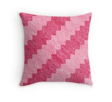 Pink Stripe Pixel Patterns Throw Pillow