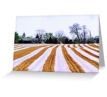 Spring Stripes Greeting Card