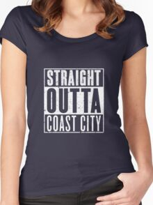 Straight Outta Coast City Women's Fitted Scoop T-Shirt
