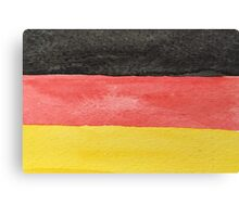 Germany Flag in Hand-Painted Water Colors Black, Red and Gold Canvas Print