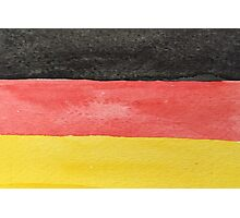 Germany Flag in Hand-Painted Water Colors Black, Red and Gold Photographic Print