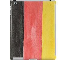 Germany Flag in Hand-Painted Water Colors Black, Red and Gold iPad Case/Skin