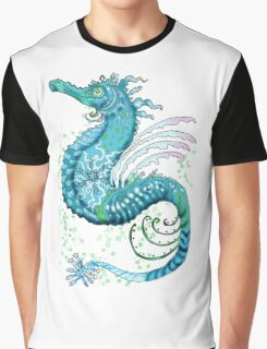 Winter Seahorse Graphic T-Shirt