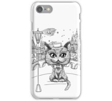 British cat hipster in Prague iPhone Case/Skin