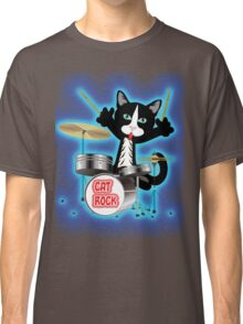 Cat Rock Drums Classic T-Shirt