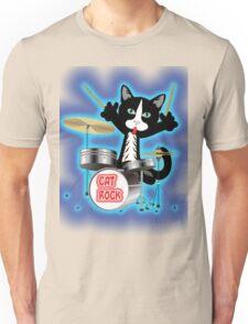 Cat Rock Drums Unisex T-Shirt