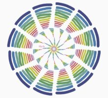 Rainbow spin #00b Kids Tee