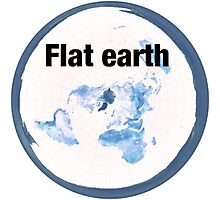 Flat earth time for the truth Photographic Print