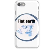 Flat earth time for the truth iPhone Case/Skin