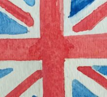 Union Jack UK Flag in Water Colors Red, White and Blue Sticker