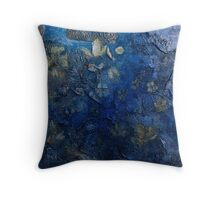 Blossoms in the wind  (dark blue) Throw Pillow