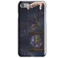 Surrealism fantasy Graphic Tee Earth Suspended inside cage  iPhone Case/Skin