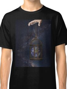 Surrealism fantasy Graphic Tee Earth Suspended inside cage  Classic T-Shirt