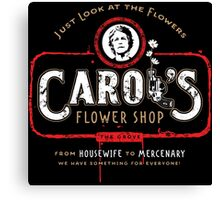 Carol's Flower Shop - Look At The Flowers! Canvas Print