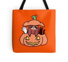 Jack O' Lantern Sloth Tote Bag