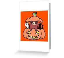 Jack O' Lantern Sloth Greeting Card