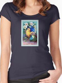 A Happy Easter Chick Women's Fitted Scoop T-Shirt
