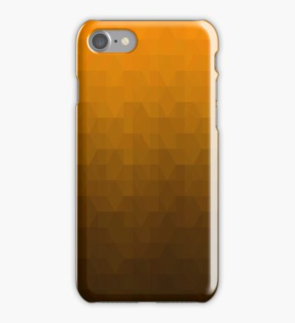 Hexagonal Overlay - Solid Orange iPhone Case/Skin