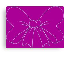 Purple and Robins Egg Blue Bow Canvas Print