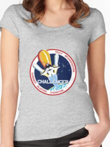 Space Shuttle Challenger (STS-8) Women's Fitted Scoop T-Shirt