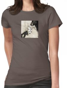 Wetnose Shetland pony Sepia Womens Fitted T-Shirt