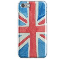 Union Jack UK Flag in Water Colors Red, White and Blue iPhone Case/Skin