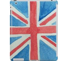 Union Jack UK Flag in Water Colors Red, White and Blue iPad Case/Skin