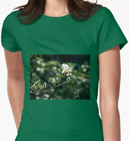 Sunlit Magnolia  Womens Fitted T-Shirt