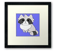 Chibi Raccoon Framed Print