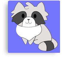 Chibi Raccoon Canvas Print